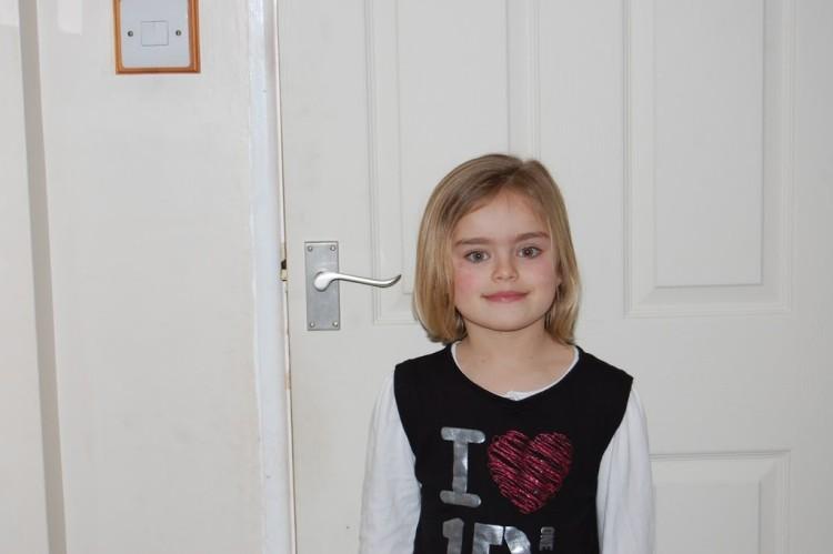 My big girl's new haircut