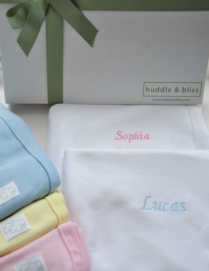 Competition time – win a personalised swaddling blanket from Huddle and Bliss!