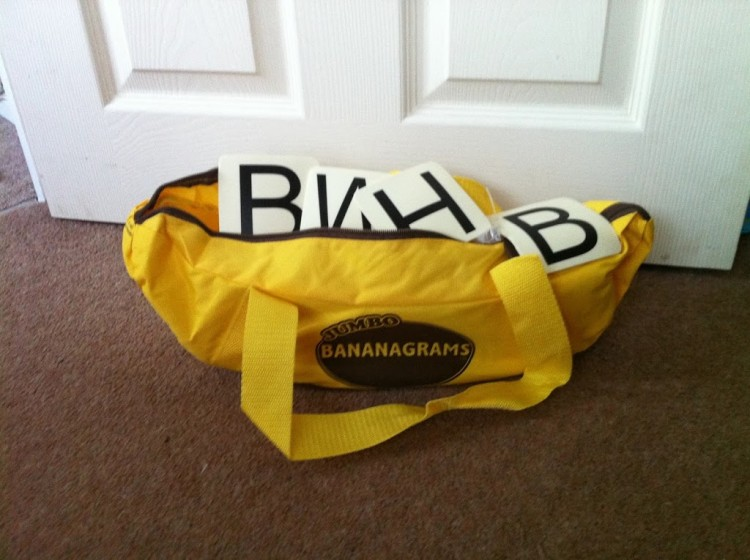 Rainbow Toy testers – our Bananagrams review