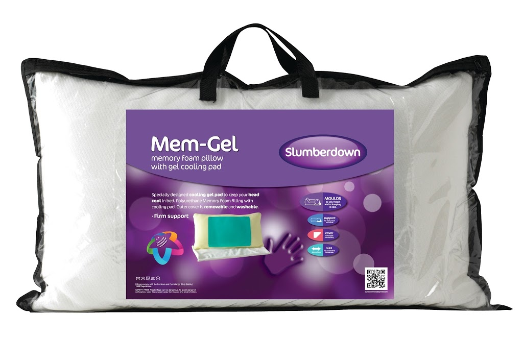 Slumberdown Traditional Memory Foam Pillow Review : Slumberdown Mem-Gel pillow with inbuilt cooling system - review - Family Fever