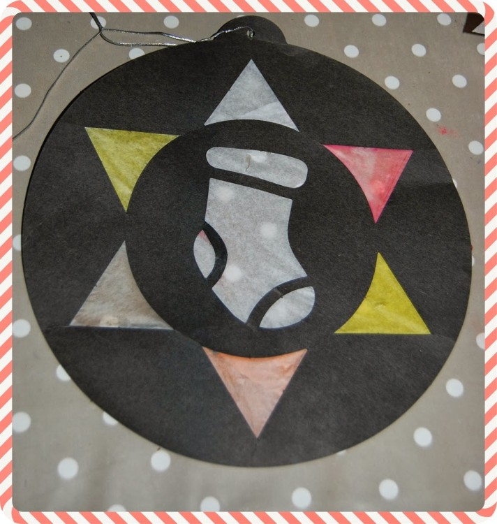 Christmas Crafting – Stained glass pictures