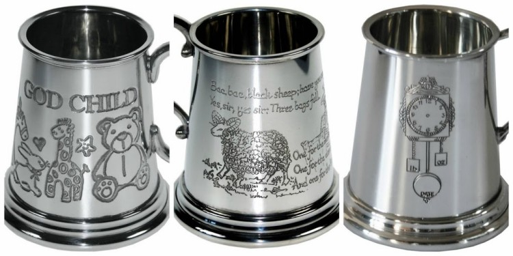 Giveaway. Win a personalised tankard – perfect Christening present or baby gift.