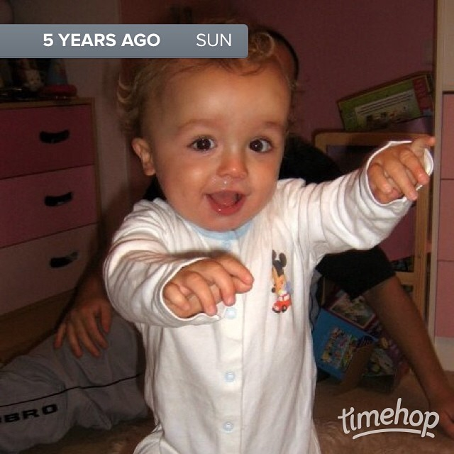 Awww! Little Jacob just learning to walk #timehop