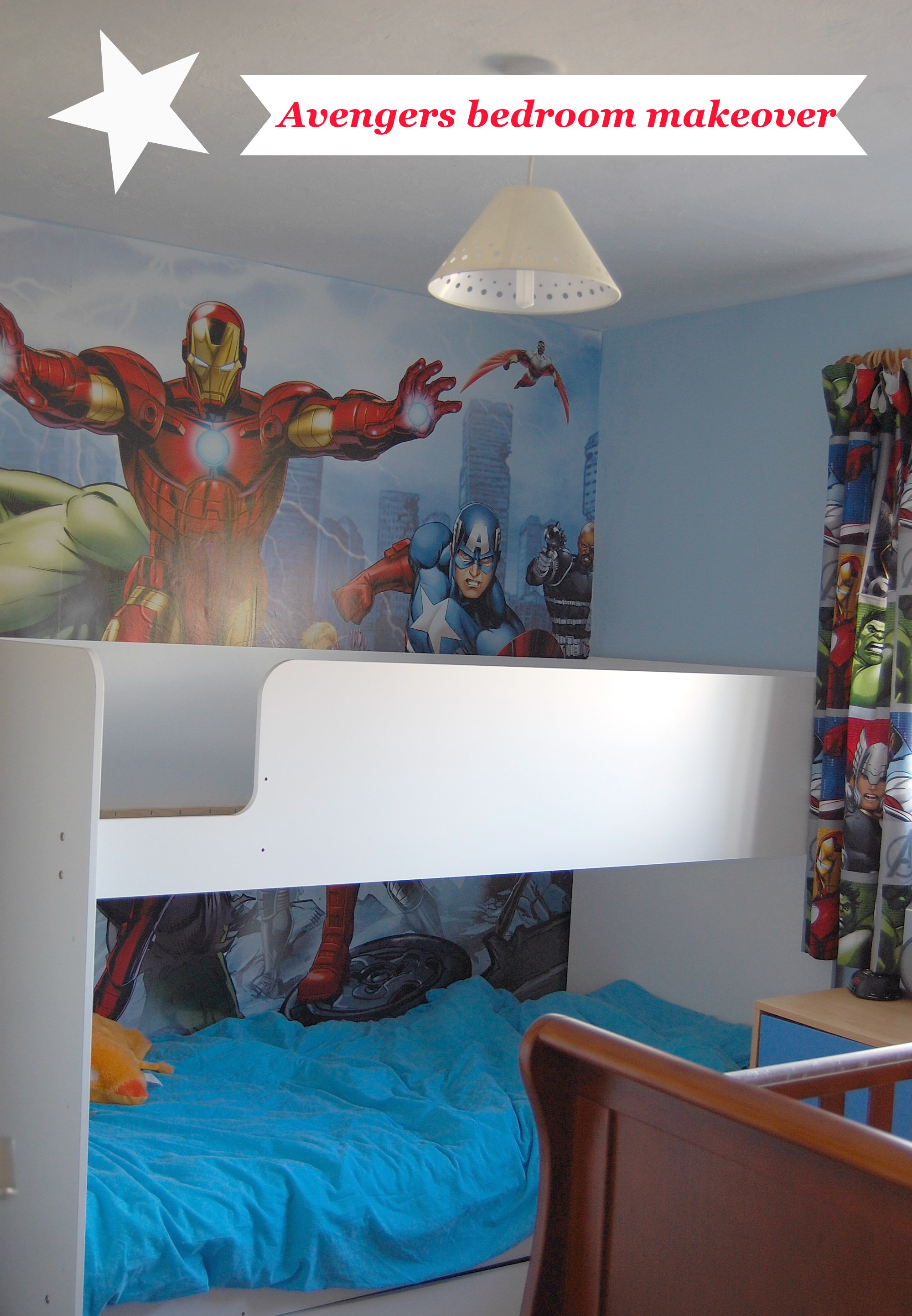 The boys bedroom makeover family fever for Dulux childrens bedroom ideas