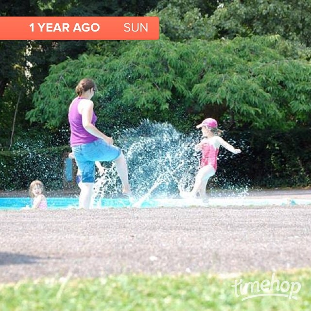 Summer fun last year - can't wait to do it again this year! #timehop