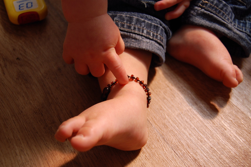 Amber anklets for eczema