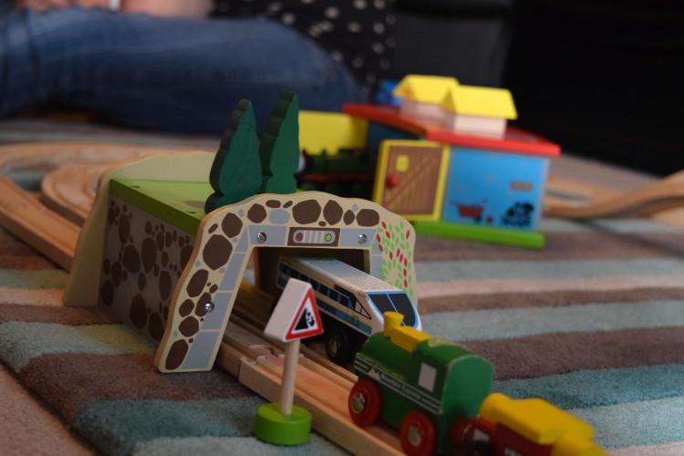 Bigjigs Play Patrol – Mountain Tunnel, Rocking Animal Boat & Ludo