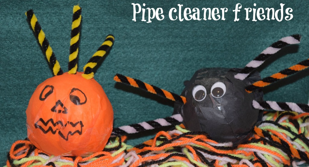 Pipe cleaner Halloween friends