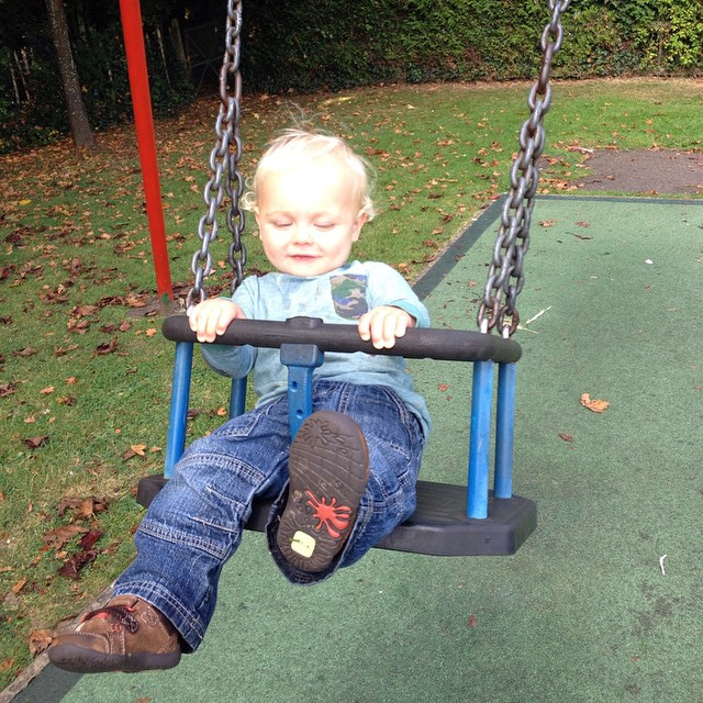 Can't get him out the swing lol