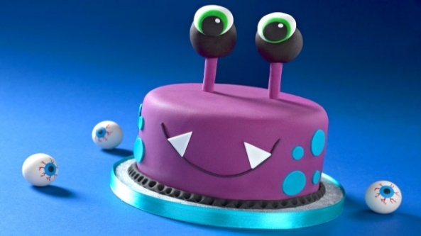 How to make a Halloween monster cake using ready to roll icing