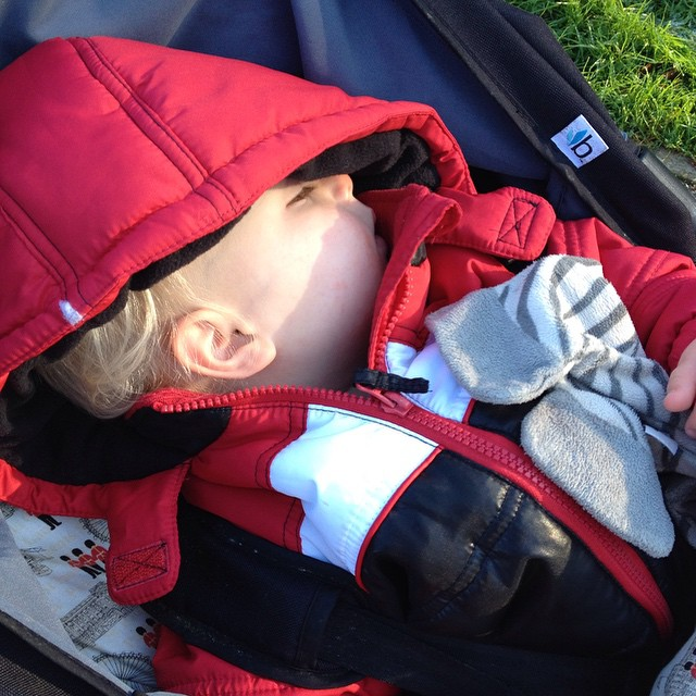 I think he might be tired after nursery @bumbleride