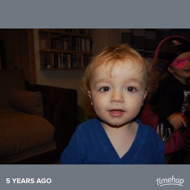 Oh my goodness, his hair! #timehop