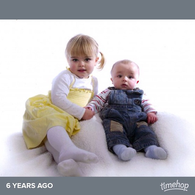 Cuties. You forget how small they were!  #timehop