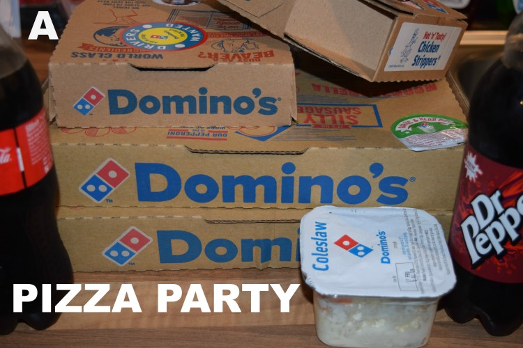 Dominos pizza party