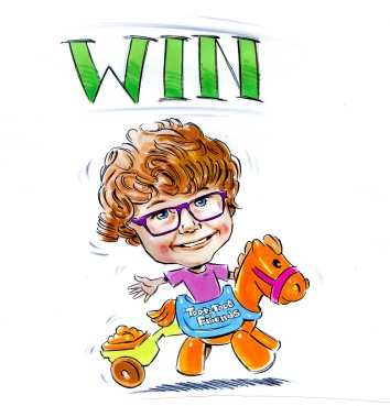 win a caricature