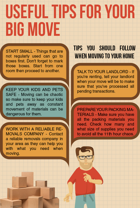 Top tips for the big move family fever for Moving into a new build house tips