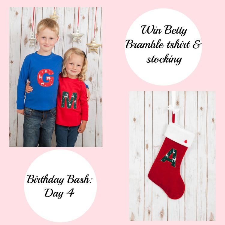 Birthday Bash: Day 4 – Win a personalised Betty Bramble tshirt & stocking