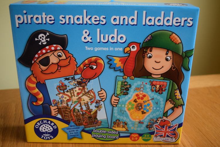 Review: Orchard Toys pirate snakes & ladders and ludo game