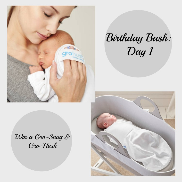 Birthday Bash: Day 1 – Win a Gro-Snug & Gro-Hush bundle