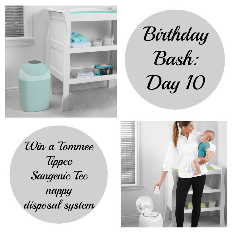 Birthday Bash: Day 10 – Win a Tommee Tippee Sangenic Tec nappy disposal system