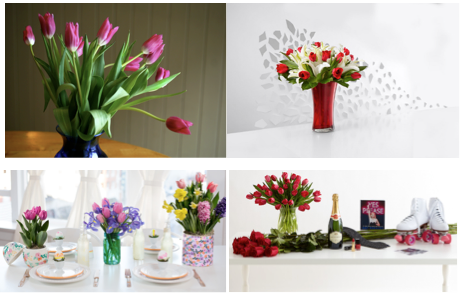 Easy table decoration ideas with fresh tulips