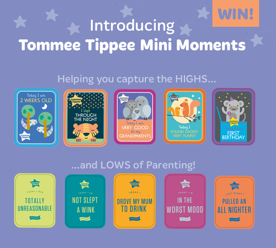 Giveaway | Win Tommee Tippee Mini Moments milestone cards