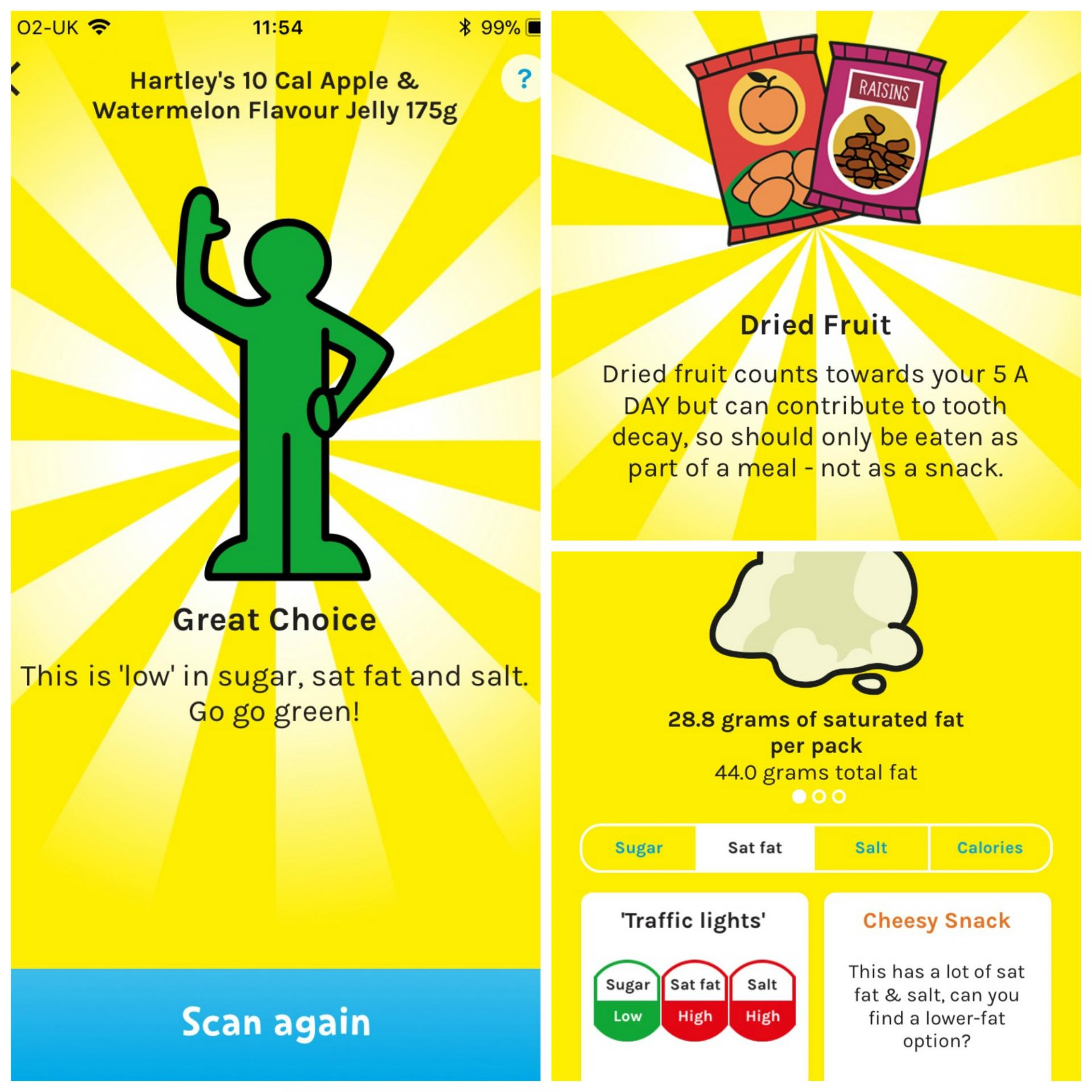 Change4Life food scanner app