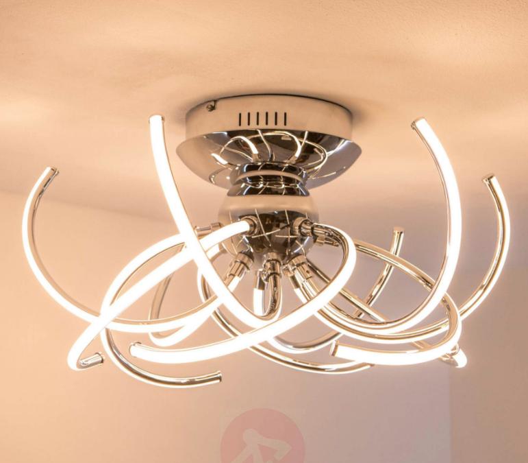 chrome kitchen light