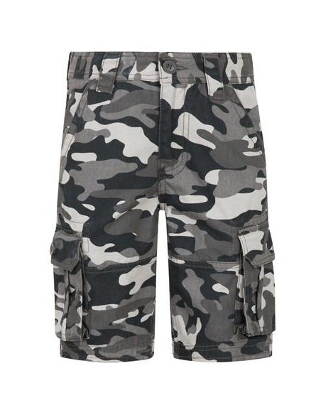 black and grey camo shorts